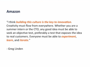 Amazon inovation culture