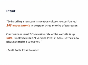 Intuit experiments results