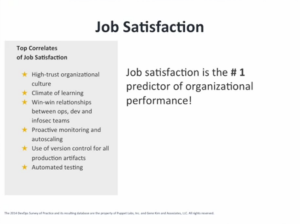 Job satisfaction as a performance indicator